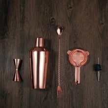 Professional 5pcs Stainless Steel Cocktail Maker Set