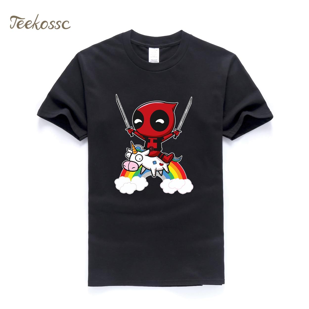 Deadpool Men T Shirt Funny Tshirt 2018 Summer Top Tee Hipster Mens T Shirts 100% Cotton Dead Pool T-Shirt Brand Clothing