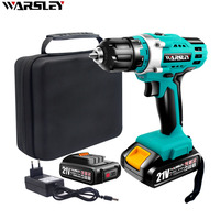 21V electric Screwdriver battery screwdriver cordless drill power tools professional electric torque screwdriver electric drill