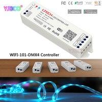Ltech 2.4 جرام led wifi إلى dmx512 تحكم Wifi-101-DMX4 dc12-24v المدخلات؛ dmx512 إشارة خرج 512CH ل led قطاع