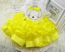 FG08 free shipping Summer Pet skirt Dress Teddy Princess Dog Dresses For Dogs Suitable Pet Clothes