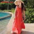 Chifave 2016 Новое Лето Мама Дочь Семьи Одежда Платье О-Образным Вырезом Solid Рукавов Платье Соответствия Мать Дочь Модная Одежда