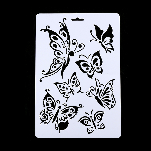 Aliexpress Buy 1Pc Butterfly Layering Stencils For Walls