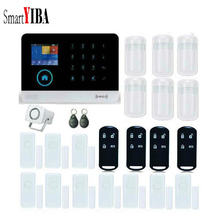 SmartYIBA WIFI GSM GPRS RFID Wireless Home Burglar Security Alarm System French Spanish Russian Polish Germany Voice