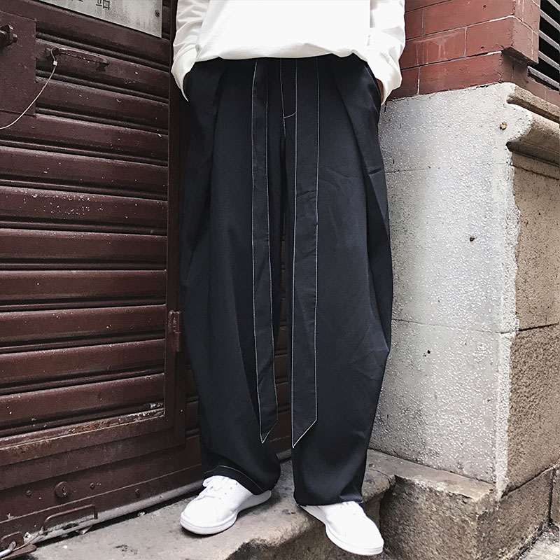 Hommes HommesS Japonais Coréenne Version Large Jambe Lâche 6xlNoir Casual Droite De Style point Neuf Pantalon 8ONw0kZPXn