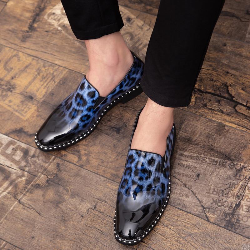 Alta Para Formais White Dos Couro Slip Homens Nova De Qualidade Moda Sapatos Flats blue On Da Primavera 2019 Oxfords Negócios red p6w7qnxCw
