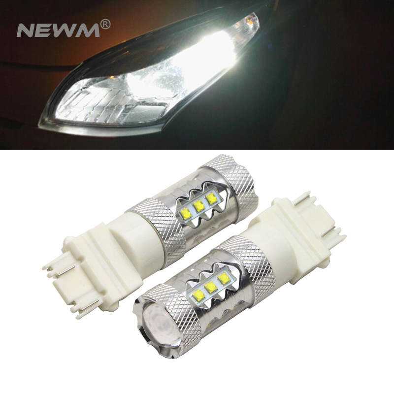 2x30 W/50 W/80 W cree chip T25 3157 led bombillas de freno arriba Lámparas Blanco/rojo/amarillo fuente Luz de niebla dc12-24v