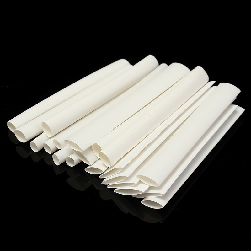 20Pcs White 3/4:1 Heat Shrink Tubing Wrap Wire For IPhone For IPad For Android For Samsung Data Line Insulation Material