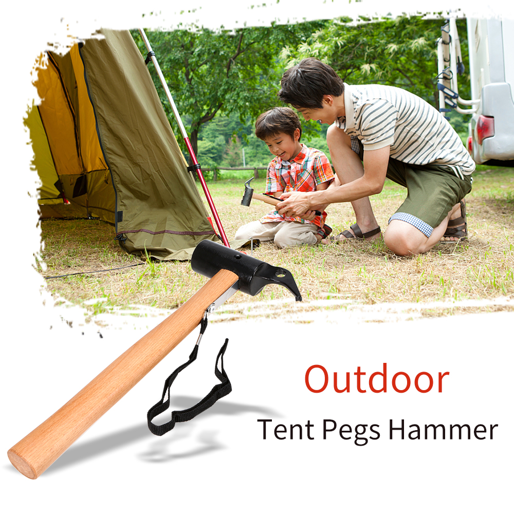 Tent Pegs Hammer Carbon Steel Canopy Stakes Remover Anti rust Outdoor Tool for Traveling Camping Hiking Tent Accessory-in Tent Accessories from Sports & Entertainment