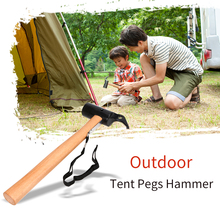 цена на Tent Pegs Hammer Carbon Steel Canopy Stakes Remover Anti-rust Outdoor Tool for Traveling Camping Hiking Tent Accessory