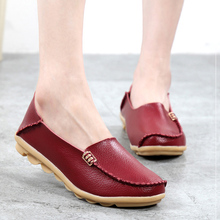 women shoes 2017 new Summer genuine leather women flats shoes female women  casual shoes loafers shoes slip on  3411