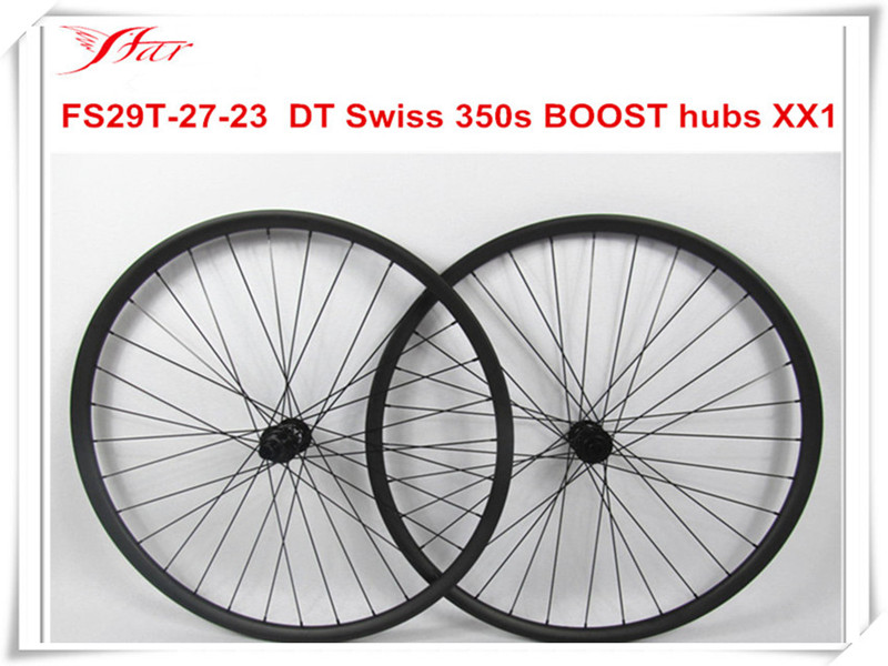 Far Sports 29er mountain bike wheels 27mm width 23mm depth MTB clincher tubeless for XC version with DT 350s Boost hubs mountain bike four perlin disc hubs 32 holes high quality lightweight flexible rotation bicycle hubs bzh002