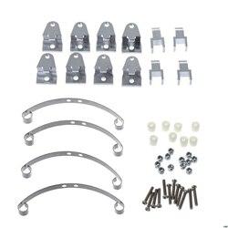 Upgrade Metal uchwyty do podnoszenia duży skok płyta stalowa do WPL B1 B 1 B14 B 14 B16 B24 B 24 C14 C 14 C24 C 24 części zamienne do samochodów rc w Części i akcesoria od Zabawki i hobby na