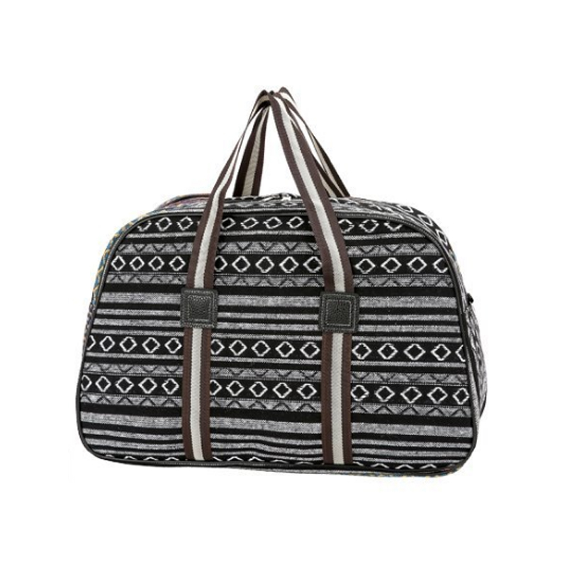 Folded Color Stripe Ladies Short Distance Travel Duffel Bag 2019 Fashion New Large Capacity Canvas Light Men Storage Bag