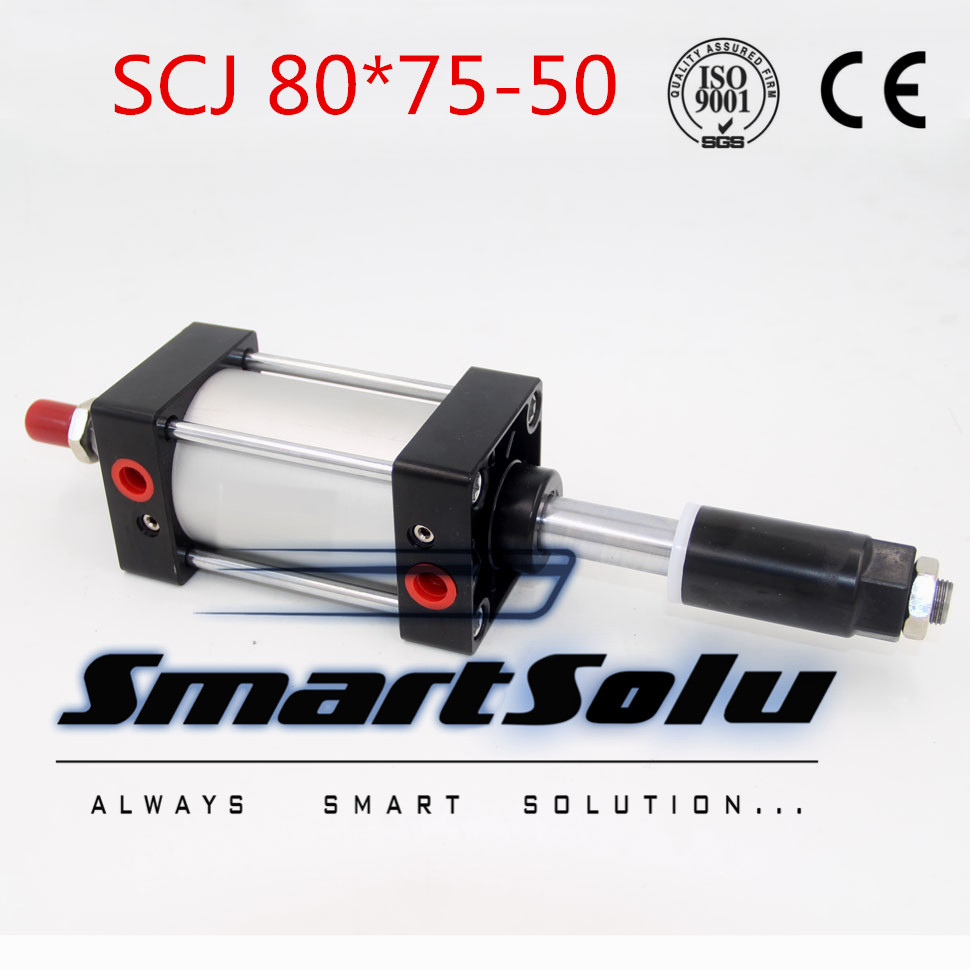 Free Shipping Airtac type Standard air cylinder single rod 80mm bore 75mm stroke SCJ80x75-50 50mm adjustable stroke cylinder acq100 75 b type airtac type aluminum alloy thin cylinder all new acq100 75 b series 100mm bore 75mm stroke
