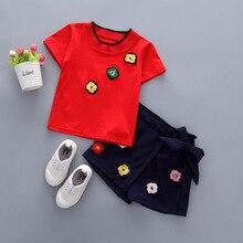 2019 New Summer Girls Clothes Sets Shorts And T Shirts 2 Pcs 1220
