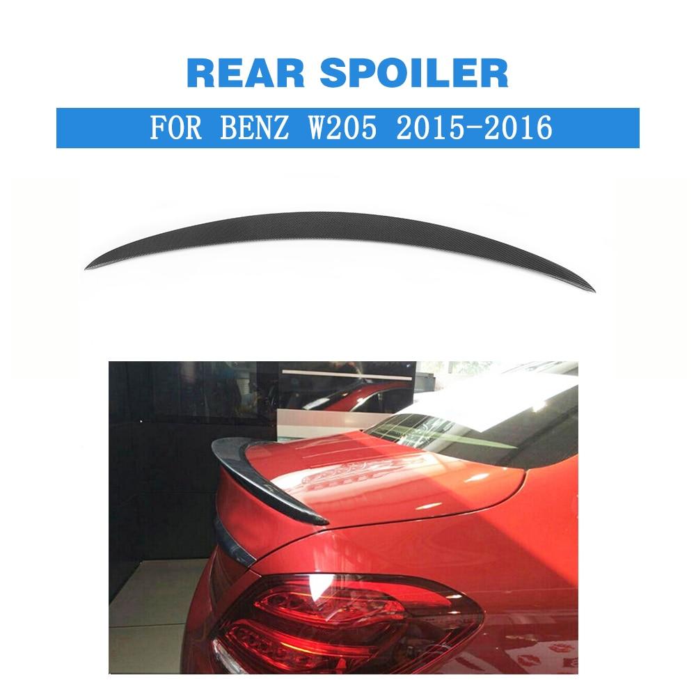 Carbon Fiber Rear Spoiler Trunk Boot Wings For Mercedes Benz C class W205 C180 C200 C250 C300 C350 C450 4 Door 15-16 FRP Black compatible new pick up roller for minolta bizhub 222 7728 420 500 c350 c450 c250 di2510 di3510 4030 0151 01 2 pcs per lot