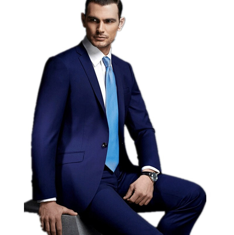 Elegant groom suits for wedding dark blue Mature men s formal suits  business man attend a meeting formal wear (jacket+pants+tie) en Trajes de  La ropa de los ... 020f67125288