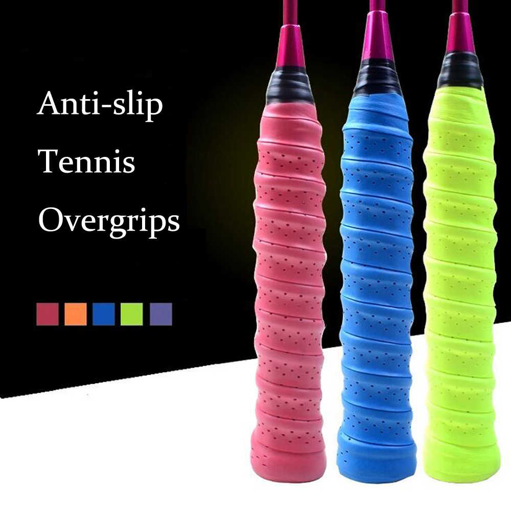 10pcs/lot Anti-slip Breathable Sport Over Grip Sweatband Griffband Tennis Overgrips Tape Badminton Racket Grips Sweatband