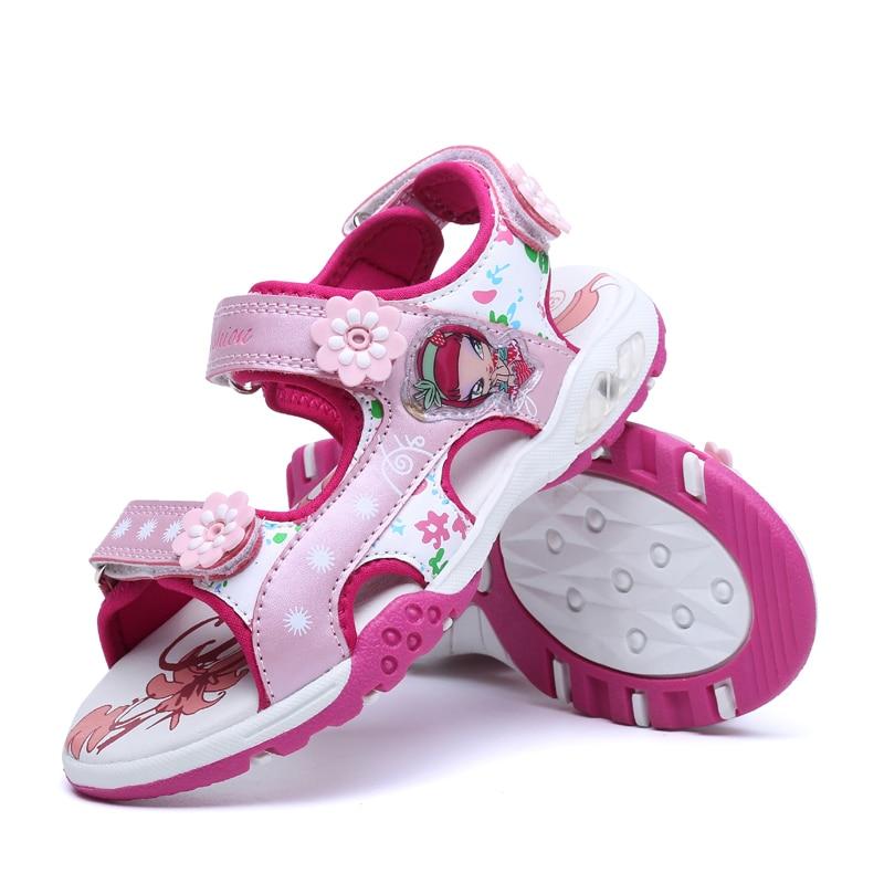 MudiPanda 3-12 years old girls shoes sandals fashion 4 little princess 5 soft 6 child baby 7 little girl summer children's beach
