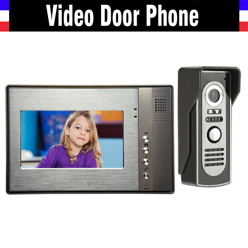цены  7 Inch LCD Wired Video Intercom Door Phone Kits Video Doorbell System Video Interphone Luxury Aluminum IR Night Vision Camera