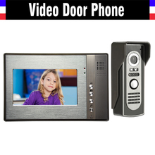 7 Inch LCD Wired Video Intercom Door Phone Kits Video Doorbell System Video Interphone Luxury Aluminum IR Night Vision Camera