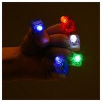 אורות אצבע LED, בהירה מסיבת פנסי אצבע עם 4 צבעים