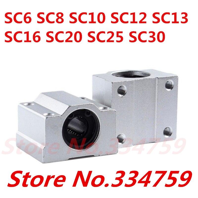 Sc6uu sc8uu sc10uu sc12uu sc16uu sc20uu sc25uu sc30uu sc35 bloco linear da corrediça do movimento para o eixo linear peças cnc impressora 3d