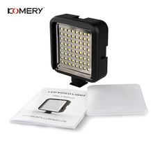 KOMERY Video Camera Flash 64LED Video Light Ultra Bright Lamp Photographic Photo Lighting for Canon for Nikon Photography Flash