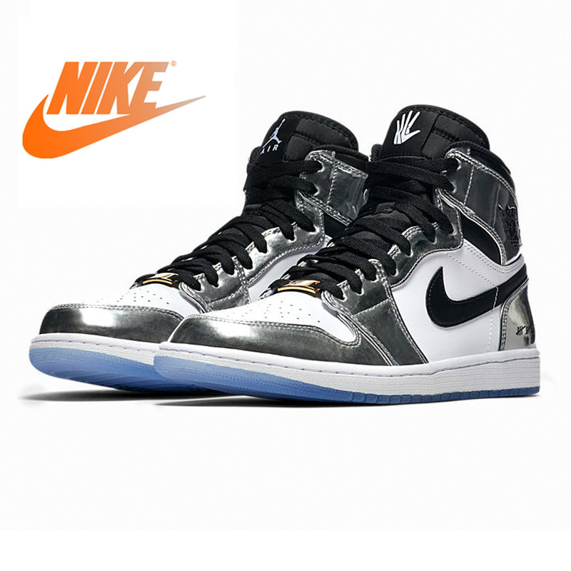 Nike Air Jordan 1 Pass The Torch Men Basketball Shoes Wear-resistant Breathable Lightweight Height Increasing Lace-Up AQ7476