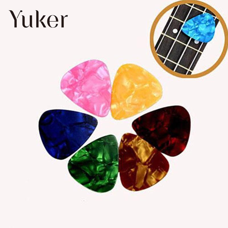 Yuker 50 PCS Acoustic Electric Guitar Pick Bass Celluloid Picks Plectrum Non-mainstream Smooth Heavy bulk 0.46mm 0.72mm 0.96mm