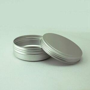 Image 4 - Sedorate 20 teile/los 250 ML Aluminium Runde Gläser Auto Wachs Haar wachs Seife Lebensmittel Mondkuchen Lagerung Gewinde Aluminium Glas Fällen MC1350