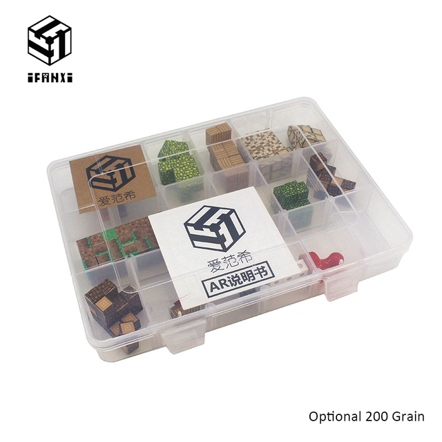 200 Grains Optional Minecraft Magnetic Building Blocks Models Bricks Hand Paste Compatible With Lego DIY Brain Toy Authorized