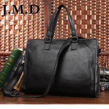 J.M.D 2017 New Arrival 100% Leather Briefcases Men's Cow Leather Messenger Shoulder Bag Handbags Travel Bags 7185