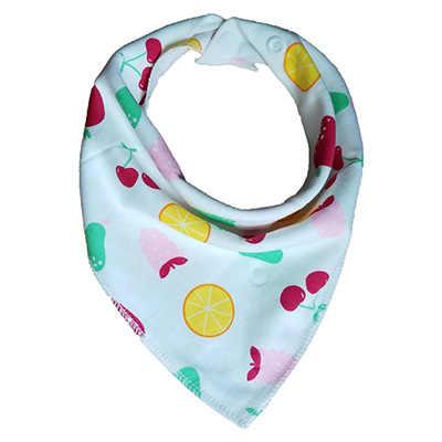 Baberos de bebé Bandana algodón Burp paños recién nacido Infante niña niño babero bufanda con botones coloridos patrones de moda