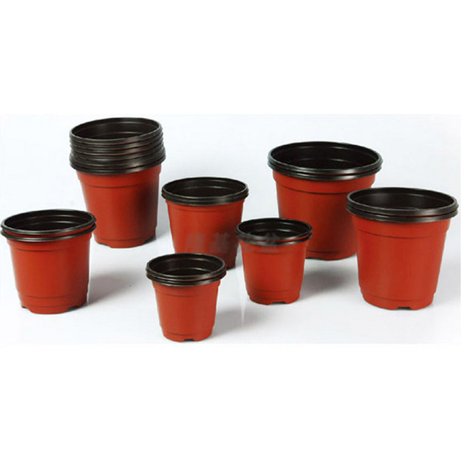 50 pieces lot 100*85*95mm/3.9*3.3*3.7 inch plastic plant pot planter container nursery pots indoor outdoor bonsai - JOYGUY store