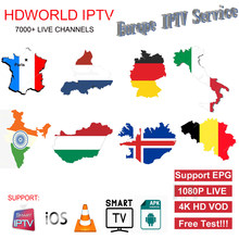 IPTV Subscription Europe France italia Germany Portugal Nederland Poland Germany israel arabic M3U code for Android Smart TV Box(China)