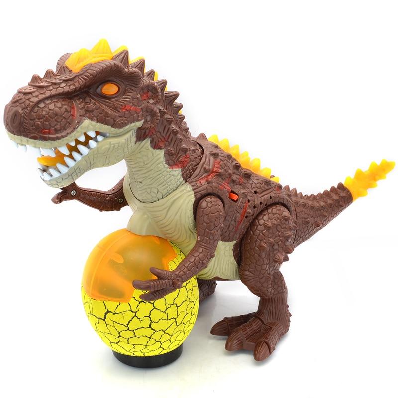 Dinosaur Electronic Walking Robot Dinosaur World Flashing Model Interactive Dino Toys Gift For Children Boys