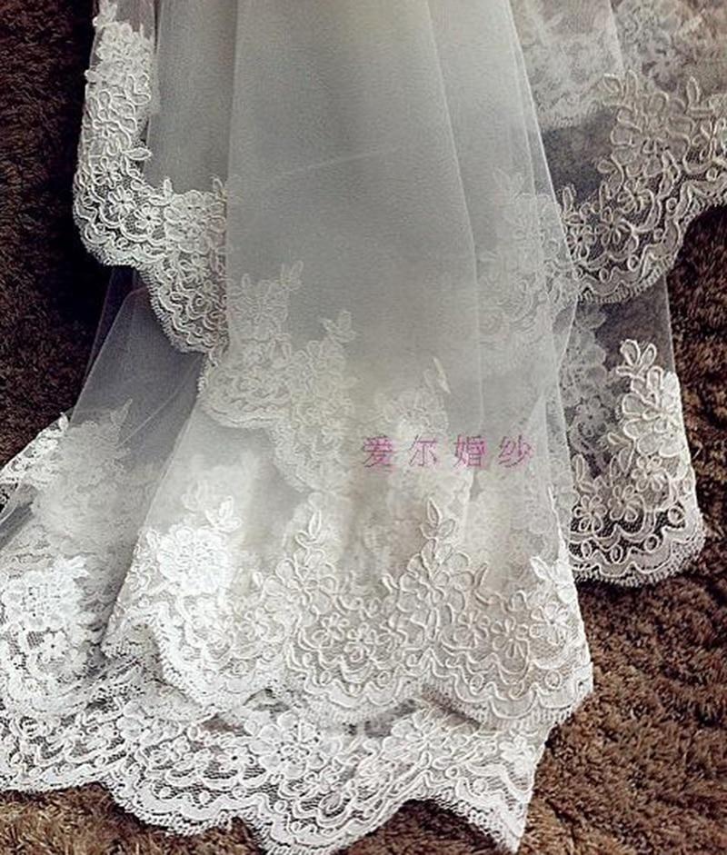 8dee5c5202 Blanco marfil boda accesorios encaje 3 m Longitud de la catedral ...