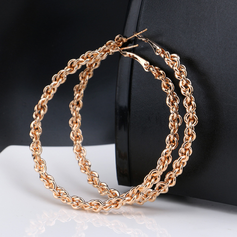 Fashion Gold Color Super Big Circles Hoop Earrings For Women Punk Maxi Ethnic Elegant Party Earrings Fashion Jewelry 2018