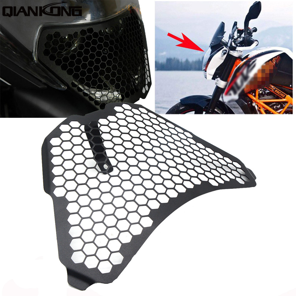 Motorcycle Accessories For KTM RC125 RC200 RC390 RC 125 200 390 2014-2016 CNC Headlight Guard Grille Protector Cover Protectors