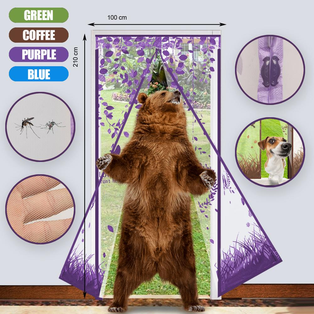 Magnet Mosquito Net Hands-Free Curtains Tulle Window Door Screen,No More Mosquitoes or Insects Coffee owl