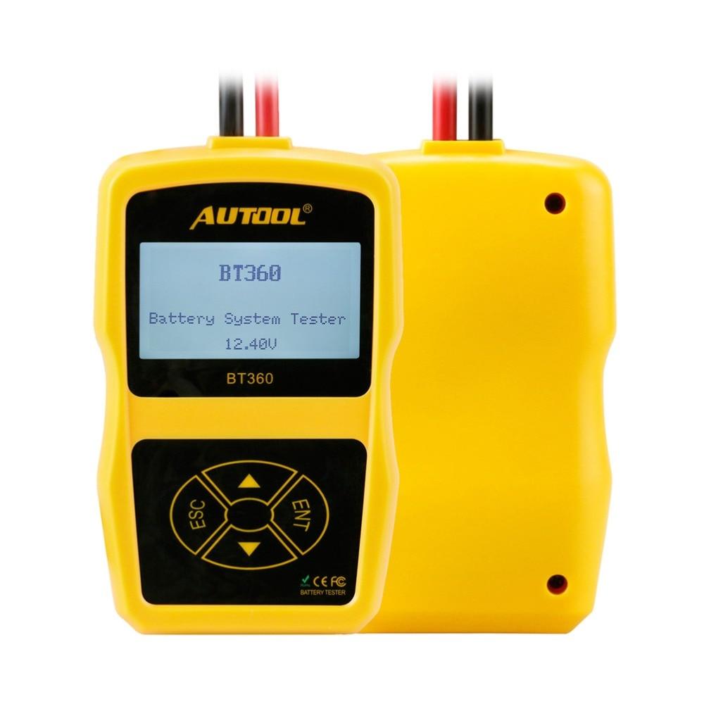Image 2 - Оригинальный Autool BT360 авто Батарея тесты er 12 В в автомобильный батарея анализатор 2000CCA 220AH Multi language BAD Cell тесты автомобиля инструменты-in Тестеры аккумуляторов from Автомобили и мотоциклы