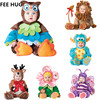 Baby Boys Girls Carnival Halloween Dinosaur Costume Romper Kids Clothes Set Toddler Cosplay Triceratops Jumpsuits Infant