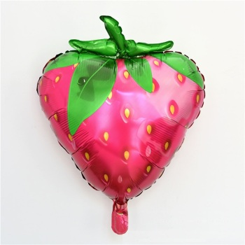 100pcs 72x58cm Strawberry Shape Balloon High Quality Aluminum Foil Fruit Balloon Children's Birthday Party Decoration wen5930