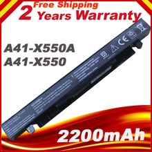 A41-x550a A41-X550 batería para Asus A450C A550C F450C F550C F552C K450C K550C R510C X450C X452C X550C X550CA X550CL X550CC