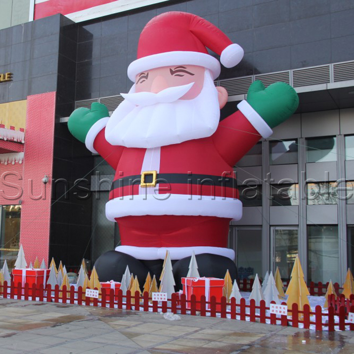 attractive large outdoor christmas decoration commercial inflatable santa claus with blower in ball ornaments from home garden on aliexpresscom alibaba