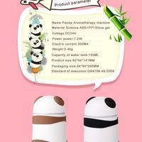 Aromaterapi Panda Hava Nemlendirici Yağ Aroma Difüzör Koku Makinesi Süper Sessiz 300mA 7.2 w Yaratıcı panda tasarım Z1128
