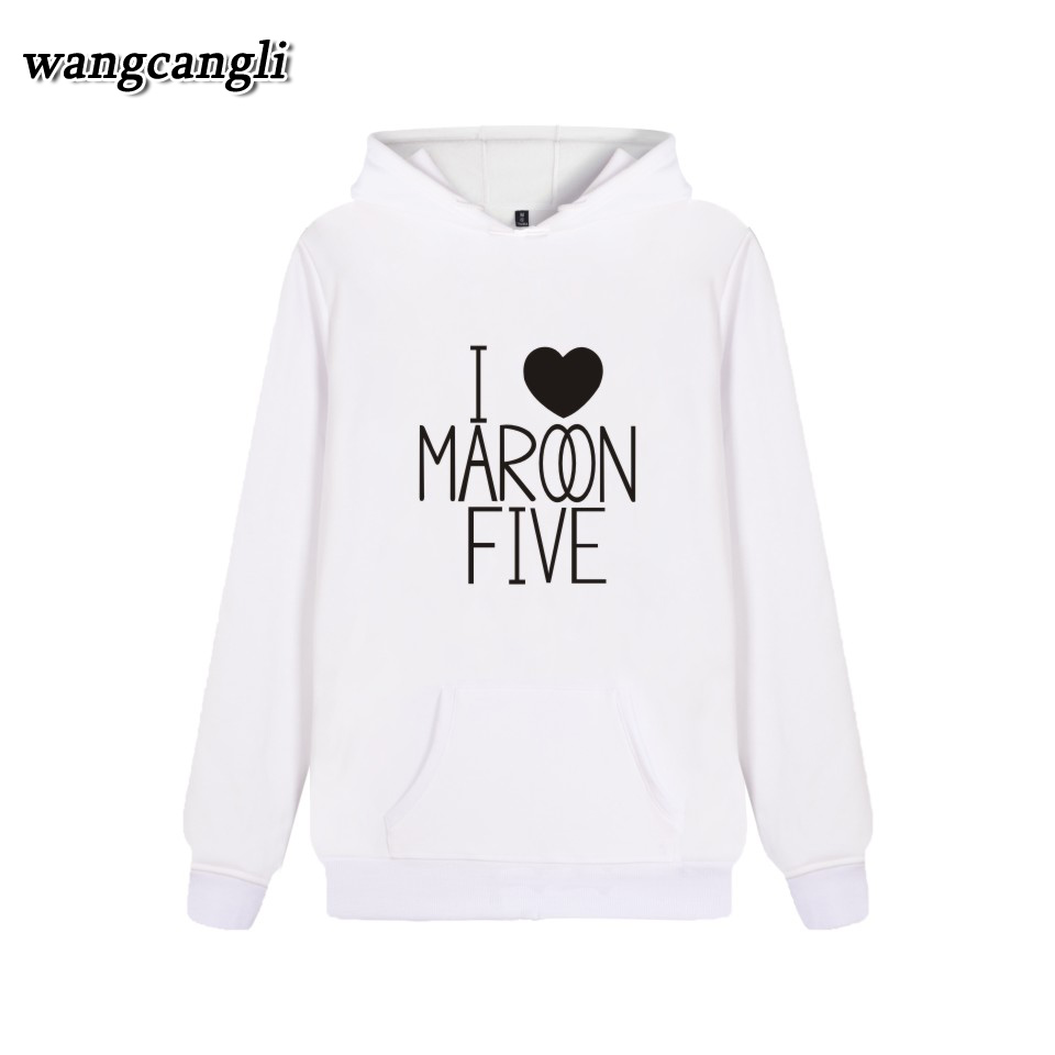 2017 Maroon 5 Rock Band Harajuku Hoodies Printed Cotton Autumn Mens Hoodies Casual Men Sweatshirts Hip Hop Clothes hoodies men