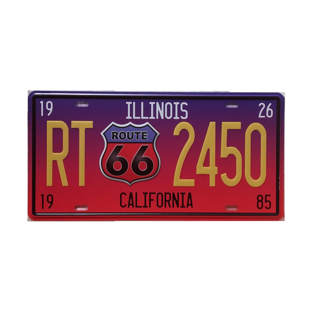 Retro Car Number Plate Style Iron Sign Painting Decorative Signs ...